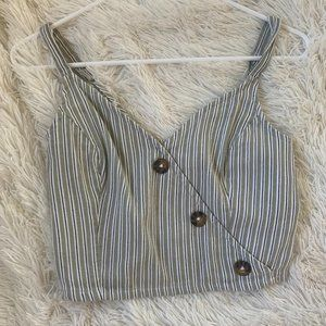 Striped Tank Top with Buttons